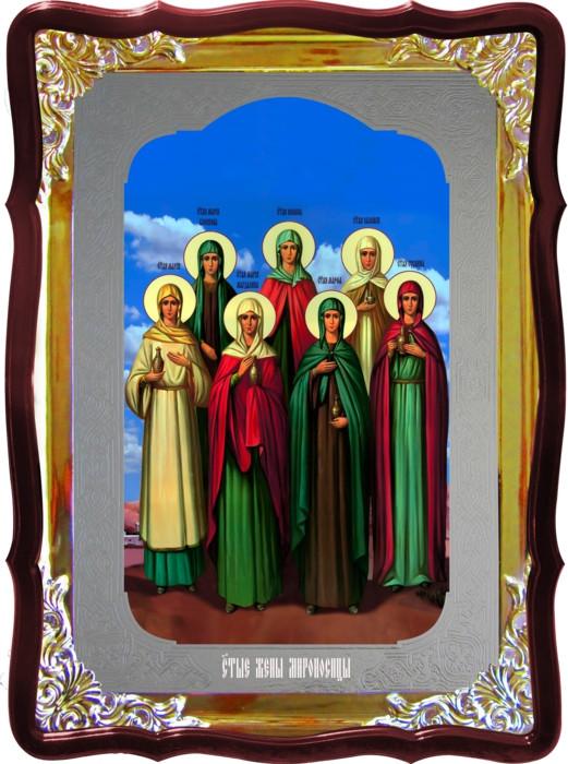 Икона под серебро Святые Жены мироносицы  в церковной лавке