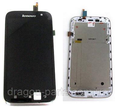 Дисплей Lenovo A859 с сенсором белый/white , оригинал 5D69A467PK, фото 2