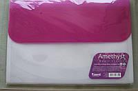 "Папка-картотека А4 формат, 4 отделения, на липучке, сиреневая Axent ""Amethyst"" № 1429-13"