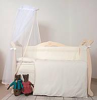 Детский постельный комплект Twins Magic sleep Classic М-007 8 предметов, белый