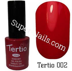 Гель лак Tertio 002 Черри 10 мл