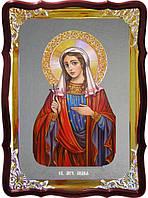 Икона с фоном под серебро Святая Лидия  в православном интернет магазине