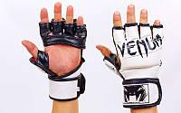 Перчатки для смешанных единоборств MMA FLEX VENUM UNDISPUTED VL-5790-W (р-р M, L, белый)