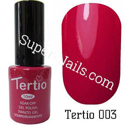 Гель лак Tertio 003 Темно-карминовый 10 мл
