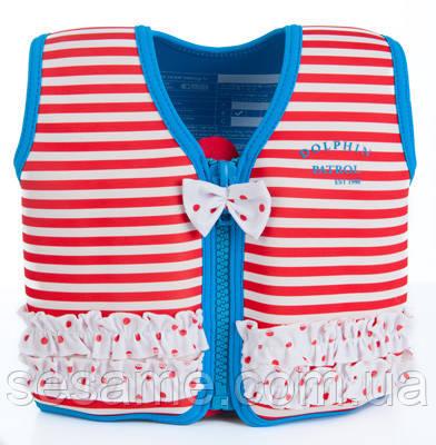 Детский плавательный жилет Konfidence Original Red Stripe KJ16-C