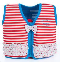 Детский плавательный жилет Konfidence Original Red Stripe KJ16-C, фото 1