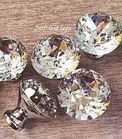 Мебельные ручки с алмазом 25 мм