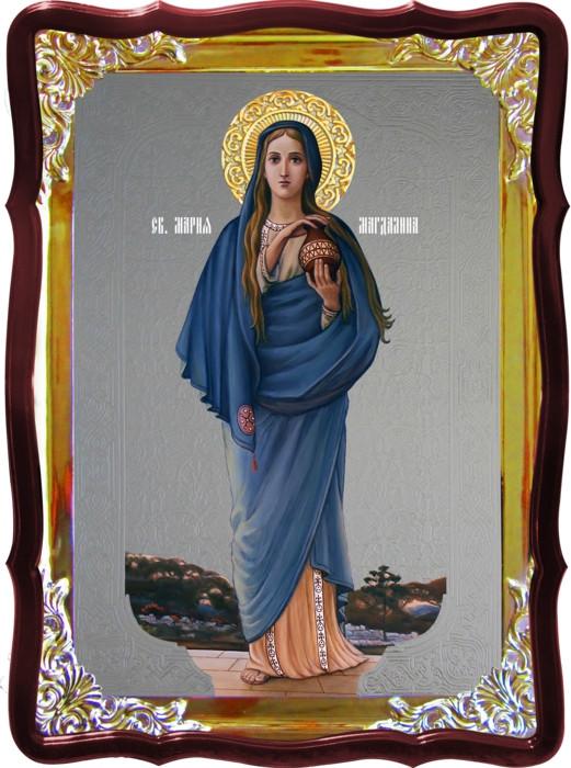 Икона под серебро Святая Мария Магдалина ростовая в православном магазине