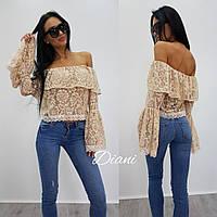 Молодежная стильная женская блузка у-87413