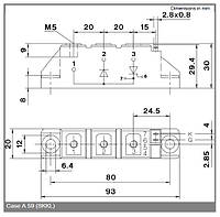 SKKL92/16E Тиристорно-диодный модуль Semikron Semipack™
