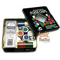 Покерный набор 100 фишек и карты