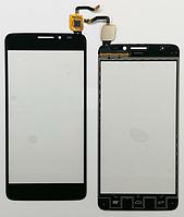 Тачскрин / сенсор (сенсорное стекло) для Alcatel One Touch Idol X OT-6040 | 6040A | 6040D | 6040X (черный)