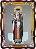 Храмовая икона под серебро Святая Ольга ростовая в церковной лавке