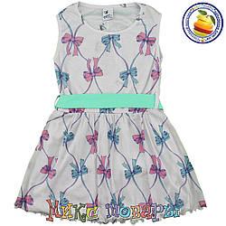 Светло серое платье без рукавов для девочки Размеры 5-6-7-8 лет (5537-6)