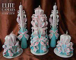 Весільні свічки для церемонії запалювання вогнища на весілля