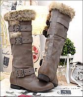Женские сапоги верх обуви кролик  Kha41 (40)