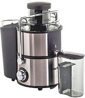 Полупрофессиональная соковыжималка Edelstar Vip, емкость для сока, корпус нержавеющая сталь, +толкатель.