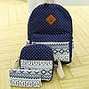 Школьный рюкзак с орнаментом 3 в 1, фото 2