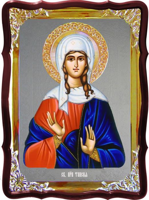 Икона с фоном под серебро Святая Таисия  в православном интернет магазине