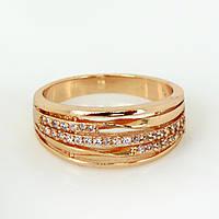 Кольцо  17,18р. xuping мед золото  250