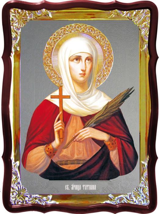 Храмовая икона под серебро Святая Татьяна  в церковной лавке
