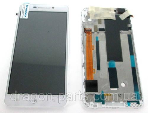 Дисплей Lenovo A5000 с сенсором белый/white , оригинал 5D68C01819, фото 2