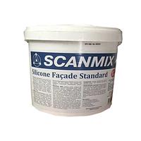 Силиконовая фасадная краска Scanmix ( Сканмикс)  FACADE SILICONE STANDART (уп.10 л)