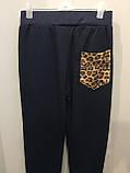 Комбинированные спортивные штаны 140,146 см, фото 4