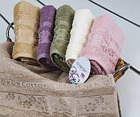 Полотенце махровое Kelebek Cotton 50х90 разные цвета Cestepe