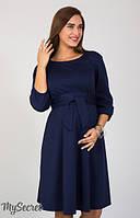 Платье для беременных и кормления Gloria темно-синее