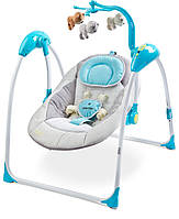 Кресло-кроватка-качалка CARETERO BLUE 33036