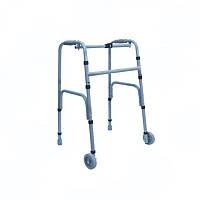 Ходунки складные, регулируемые по высоте, на 2-х колесах для взрослых НТ-03-005