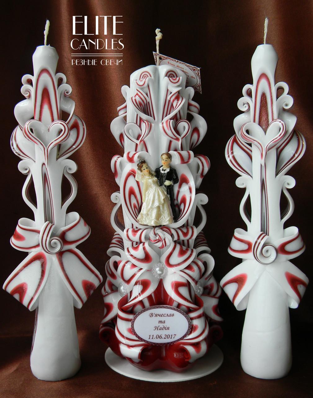 Свечи Марсала для очага на свадьбу