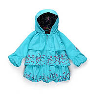 Плащ детский демисезонный с капюшоном для девочки, фото 1