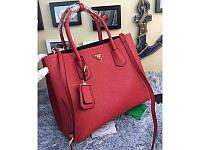 Женская сумка в стиле PRADA CUIR DOUBLE BAG RED (6919), фото 1