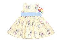Платье « Кролики  »  Желтый   Состав : Хлопок, фото 1