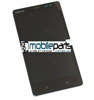 Оригинальный Дисплей (Модуль) + Сенсор (Тачскрин) для Nokia X2 Dual Sim (С рамкой) (Черный)