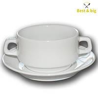Чашка фарфоровая для бульона - 320 мл (Farn)