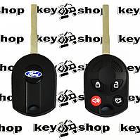 Корпус авто ключа для Ford (Форд),4 кнопки с лезвием HU101