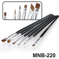 MNB-220 Набор кисточек для ногтевого дизайна из 6 инструментов