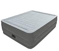 Двухспальная надувная флокированная кровать Intex 64418