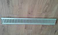 Решітка захисна водоприймальна 1000*136*3 мм. (штампований оцинковка), фото 1