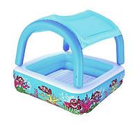 Надувной детский бассейн Bestway 52192  147 х 147 х 122  см надувное дно