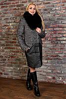 "Modus Пальто ""Марли крупное букле стежка песец зима"""