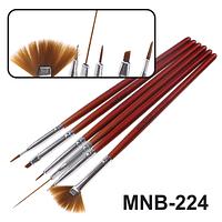 MNB-224 Набор кисточек для ногтевого дизайна из 6 инструментов