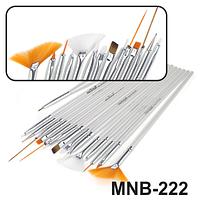 MNB-222 Набор кисточек для ногтевого дизайна из 15 инструментов