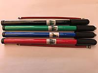 Насос велосипедный пластиковый, цвет: красный, синий,черный,серый