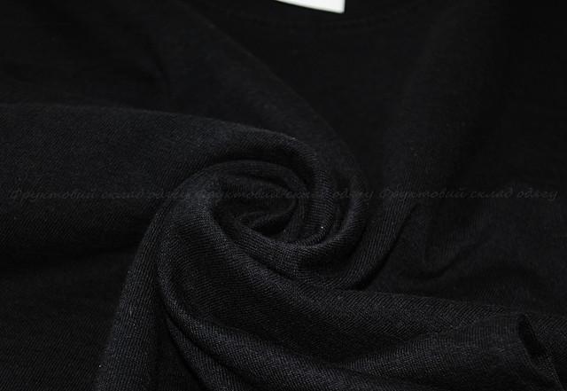 Чёрная детская мягкая футболка для девочек