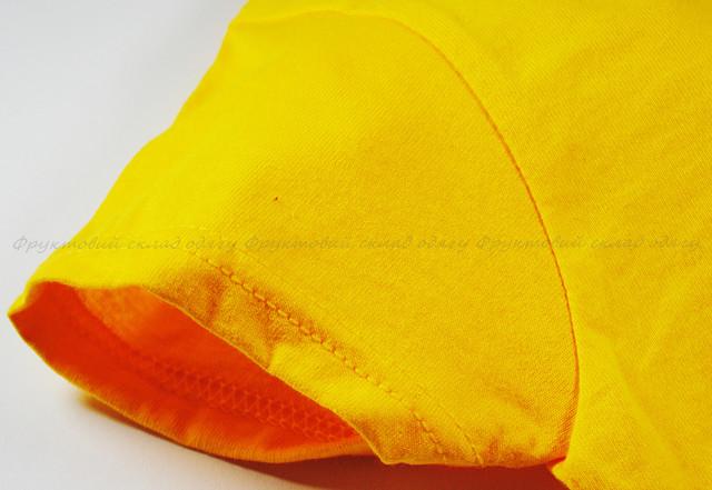 Солнечно-жёлтая детская мягкая футболка для девочек