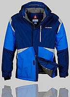 Мужская зимняя куртка Columbia 4227 Тёмно-Синяя